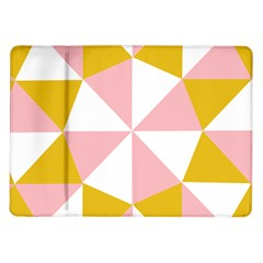 Learning Connection Circle Triangle Pink White Orange Samsung Galaxy Tab 10.1  P7500 Flip Case
