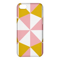 Learning Connection Circle Triangle Pink White Orange Apple iPhone 5C Hardshell Case