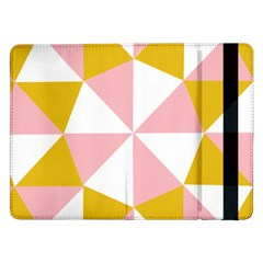 Learning Connection Circle Triangle Pink White Orange Samsung Galaxy Tab Pro 12.2  Flip Case