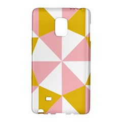 Learning Connection Circle Triangle Pink White Orange Galaxy Note Edge