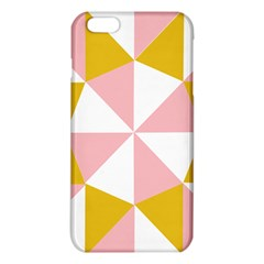 Learning Connection Circle Triangle Pink White Orange iPhone 6 Plus/6S Plus TPU Case