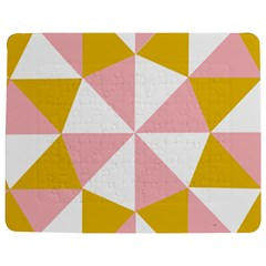 Learning Connection Circle Triangle Pink White Orange Jigsaw Puzzle Photo Stand (Rectangular)
