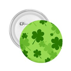 Leaf Clover Green Line 2 25  Buttons
