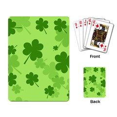 Leaf Clover Green Line Playing Card