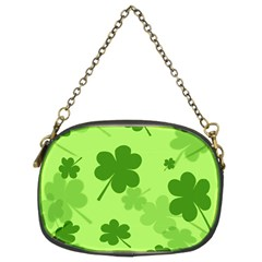 Leaf Clover Green Line Chain Purses (two Sides)