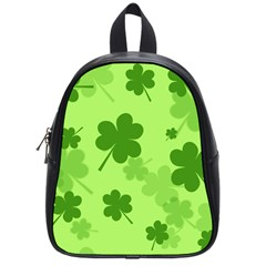 Leaf Clover Green Line School Bags (Small)