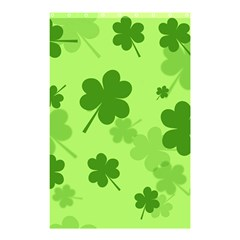 Leaf Clover Green Line Shower Curtain 48  X 72  (small)