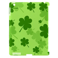 Leaf Clover Green Line Apple iPad 3/4 Hardshell Case (Compatible with Smart Cover)