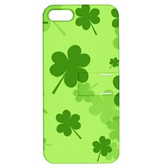 Leaf Clover Green Line Apple iPhone 5 Hardshell Case with Stand
