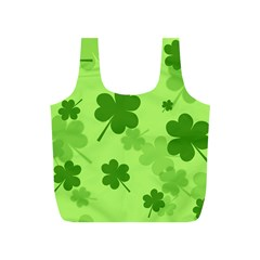 Leaf Clover Green Line Full Print Recycle Bags (S)