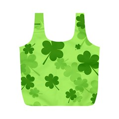 Leaf Clover Green Line Full Print Recycle Bags (m)