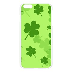 Leaf Clover Green Line Apple Seamless iPhone 6 Plus/6S Plus Case (Transparent)