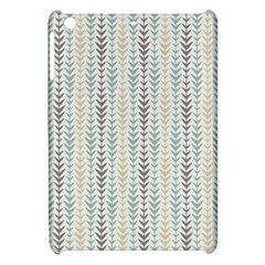 Leaf Triangle Grey Blue Gold Line Frame Apple iPad Mini Hardshell Case