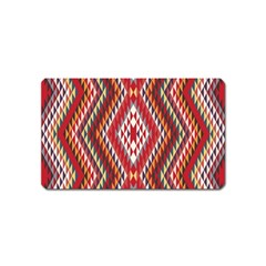 Indian Pattern Sweet Triangle Red Orange Purple Rainbow Magnet (name Card)