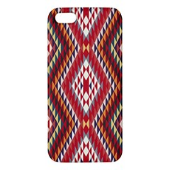 Indian Pattern Sweet Triangle Red Orange Purple Rainbow Apple iPhone 5 Premium Hardshell Case