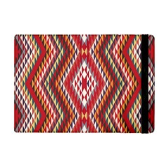 Indian Pattern Sweet Triangle Red Orange Purple Rainbow iPad Mini 2 Flip Cases