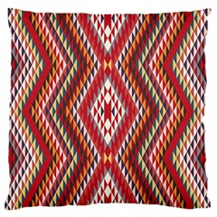 Indian Pattern Sweet Triangle Red Orange Purple Rainbow Standard Flano Cushion Case (One Side)