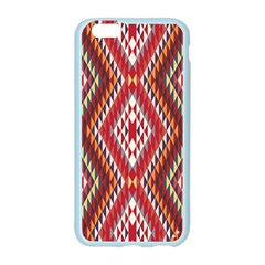 Indian Pattern Sweet Triangle Red Orange Purple Rainbow Apple Seamless iPhone 6/6S Case (Color)