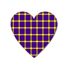 Optical Illusions Circle Line Yellow Blue Heart Magnet