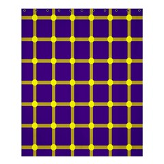 Optical Illusions Circle Line Yellow Blue Shower Curtain 60  X 72  (medium)