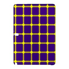 Optical Illusions Circle Line Yellow Blue Samsung Galaxy Tab Pro 10.1 Hardshell Case
