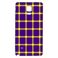 Optical Illusions Circle Line Yellow Blue Galaxy Note 4 Back Case