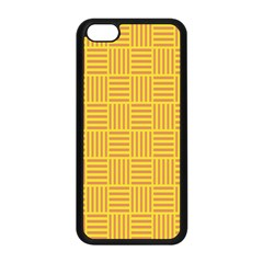 Plaid Line Orange Yellow Apple Iphone 5c Seamless Case (black)