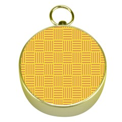 Plaid Line Orange Yellow Gold Compasses