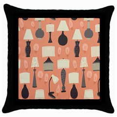 Lamps Throw Pillow Case (Black)