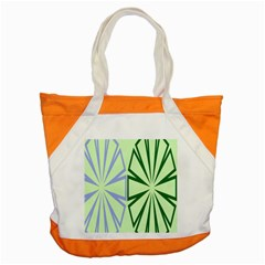 Starburst Shapes Large Green Purple Accent Tote Bag