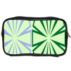 Starburst Shapes Large Green Purple Toiletries Bags