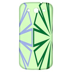 Starburst Shapes Large Green Purple Samsung Galaxy S3 S III Classic Hardshell Back Case