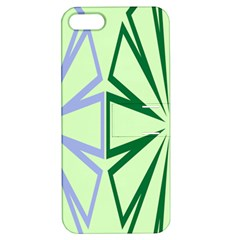 Starburst Shapes Large Green Purple Apple iPhone 5 Hardshell Case with Stand