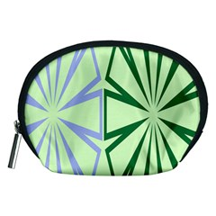 Starburst Shapes Large Green Purple Accessory Pouches (Medium)