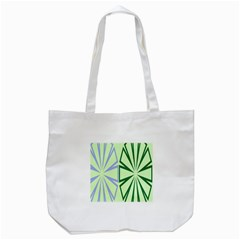 Starburst Shapes Large Green Purple Tote Bag (White)