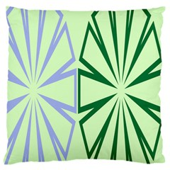 Starburst Shapes Large Green Purple Standard Flano Cushion Case (One Side)