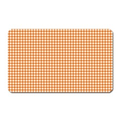 Orange Tablecloth Plaid Line Magnet (rectangular)