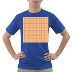 Orange Tablecloth Plaid Line Dark T-Shirt