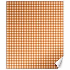 Orange Tablecloth Plaid Line Canvas 20  x 24