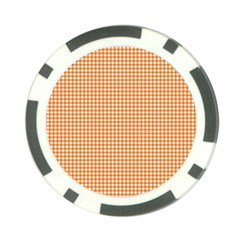 Orange Tablecloth Plaid Line Poker Chip Card Guard (10 pack)