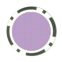 Purple Tablecloth Plaid Line Poker Chip Card Guard (10 pack)
