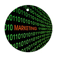 Marketing Runing Number Ornament (round)