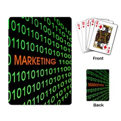Marketing Runing Number Playing Card