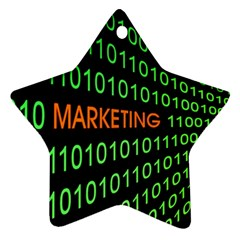 Marketing Runing Number Star Ornament (Two Sides)
