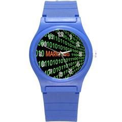 Marketing Runing Number Round Plastic Sport Watch (s)