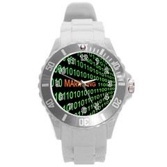 Marketing Runing Number Round Plastic Sport Watch (l)