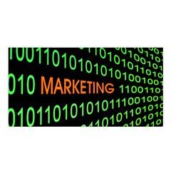 Marketing Runing Number Satin Shawl