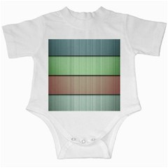 Modern Texture Blue Green Red Grey Chevron Wave Line Infant Creepers