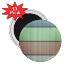 Modern Texture Blue Green Red Grey Chevron Wave Line 2 25  Magnets (10 Pack)