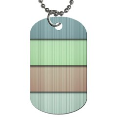Modern Texture Blue Green Red Grey Chevron Wave Line Dog Tag (one Side)